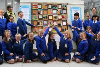 Sewing Stories from the Past stitched by local primary school pupils