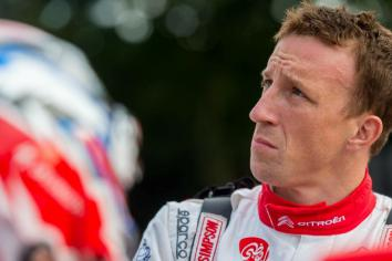 Meeke halted by freak blaze